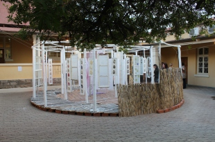 2012, 'The Road Less Travelled', Recycled Material Installation, Goethe Institute Namibia