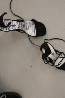 2015, 'Back & Forth', Duo-exhibition with Meg Wilson. Nexus Gallery, Adelaide, Australia Multimedia Artwork - Video Performances, Shoes, Swing, Sound, Tape