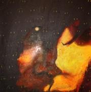 2012, 'Bipolar', Acrylic on Canvas, 120x120cm, Goethe Institut, Namibia