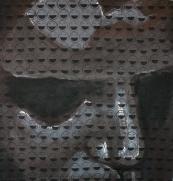2012, 'Depressed', Acrylic on Canvas, 120x120cm, Goethe Institute, Namibia