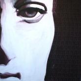 2012, 'Cry', Acrylic on Canvas, 120x120cm, Goethe Institute, Namibia