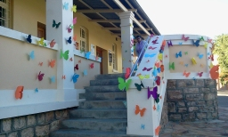 2012, 'Muse', Paper Installation. Goethe Centre Windhoek Boundary Wall