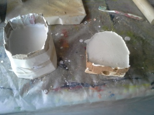 Moulds ready to be cleaned