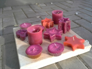 Some of the candles produced