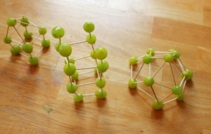 Toothpick and Grape Sculpture