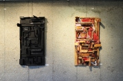 Left- '50 Shades of Black', Right - 'Mania' Assemblage, FNCC, Windhoek, Namibia, 2015