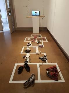 Back and Forth Multimedia Installation (Photo: Melanie Sarantou)